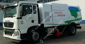 Fullwon Road Cleaning Truck Mounted Sweeper Dust Collection(HOWO Chassis)